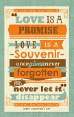 Happy Valentine's Day Printable - Love is a promise