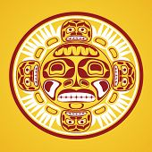 image of tlingit  - Vector illustration of the sun symbol - JPG
