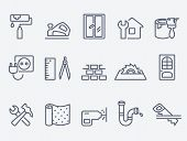 stock photo of sawing  - Home repair icons - JPG