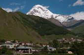 picture of trinity  - Mount Kazbek is the seventh highest peak in the Caucasus Mountains - JPG