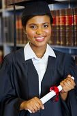 picture of laws-of-attraction  - gorgeous female african american university law school graduate - JPG