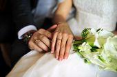 stock photo of trust  - Bride and groom - JPG