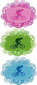 Mountain bike badges.