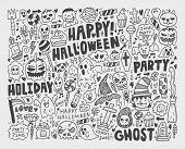 foto of vampire bat  - Vector illustration of doodle halloween holiday background - JPG
