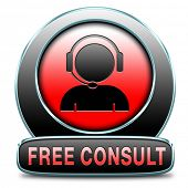 free consult icon or help and information desk button optimal customer support Gratis consultation s