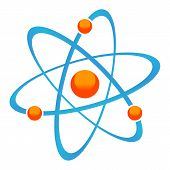 picture of neutrons  - New molecule icon on  a white background - JPG