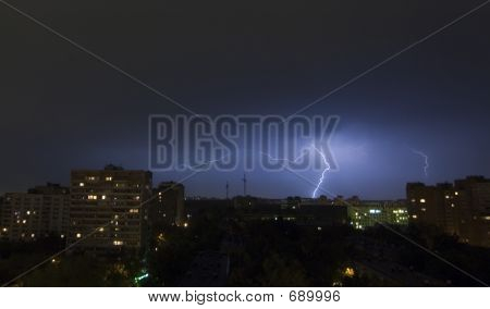 poster of Lightning in City
