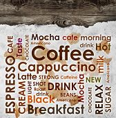 Sorts Of Coffee On Wooden Background