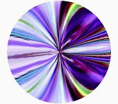 Geometric Abstract Ornament Pupil Fabulous Dragon. Play Sentiments. Violet.   A-0175.