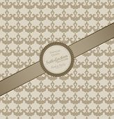 Seamless wallpaper pattern with label