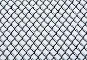 Frozen Medium Chain-link Fence Pattern.
