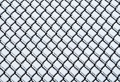 image of chain link fence  - Black medium chain - JPG
