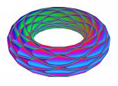 Illuminated Ring.  A Wonderful Harmony Of Colors. 3D.  A-0226.
