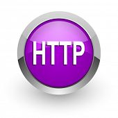 http pink glossy web icon