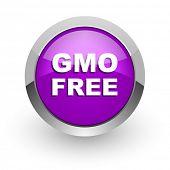 gmo free pink glossy web icon
