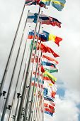 European Union Parliament All Countries Flags