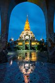 Beautiful Temple In Thailand At Dusk