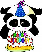 a birthday panda