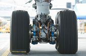Rear Landing Gear Of Wide-body Airplane