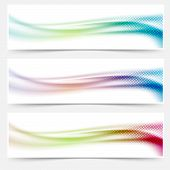 Bright Abstract Swoosh Wave Colorful Banners