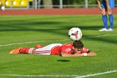 MOSCOW, RUSSIA - JULY 22, 2014: Match OFK, Serbia - Benfica, Portugal during the Lev Yashin VTB Cup,