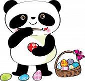 Easter panda