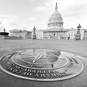 U.S. Capitol Building in Washington D.C. - Black and white toned