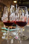glasses of ruby port wine