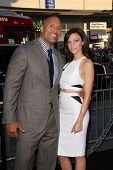LOS ANGELES - JUL 23:  Dwayne Johnson, Lauren Hashian at the