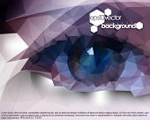 picture of polygons  - eps10 vector polygon shape eyes abstract background - JPG
