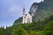 Neuschwanstein Castle in the Bavarian Alps, Germany