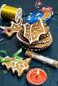 festive Christmas decorations and tasty cookies
