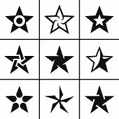 icon Star icons set