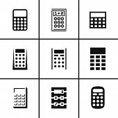 Calculators icons set
