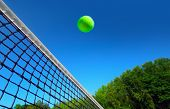 Tennis ball on net�?�?�?�´s edge