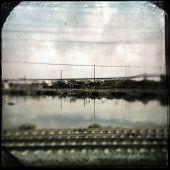 Instagram filtered image of the New Jersey Meadowlands swamp