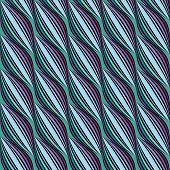 Striped Wavy Seamless Pattern