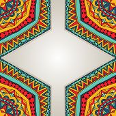 Bright Ethnic Frame