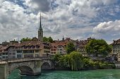 Bridge Over The Aare River In Bern, Switzerland