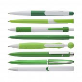 Green Pens Collection, With Ps Path