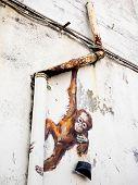 Street Art Mural In Kuching, Sarawak, Malaysia