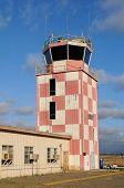 TUSTIN, CALIFORNIA - MAY 15, 2013: Control Tower at the former MCAS, Tustin, CA. Many of the buildin