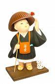 Buddhist Monasticism Cartoon, Japanese Souvenir