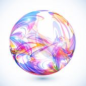 Abstract colorful sphere on white background