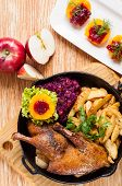 Roasted Duck And Potato Wedges