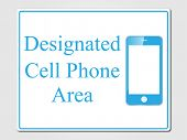 Cell phones allowed vector illustration