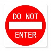 Do not enter vector illustration sign