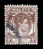 Malaya stamp 1937