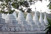 The 729 Stupas Known As The World's Largest Book At The Kuthodaw Pagoda In Myanmar.