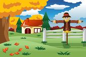 Scarecrow In The Fall Season